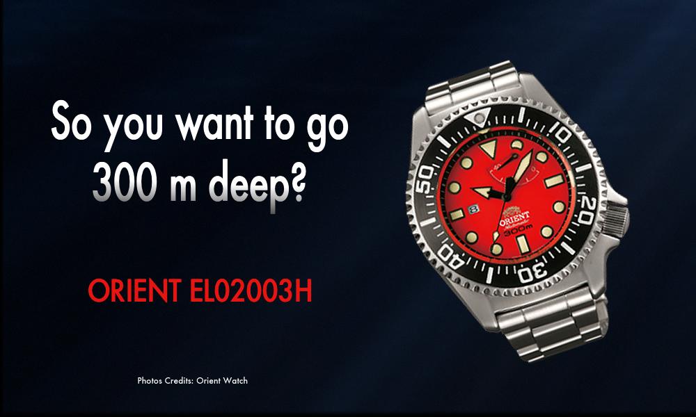 Orient Watch Saturation Dive EL02003H