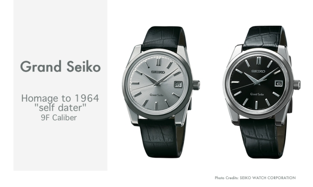 "Grand Seiko Homage to 1964 ""self dater"" 9F Caliber"